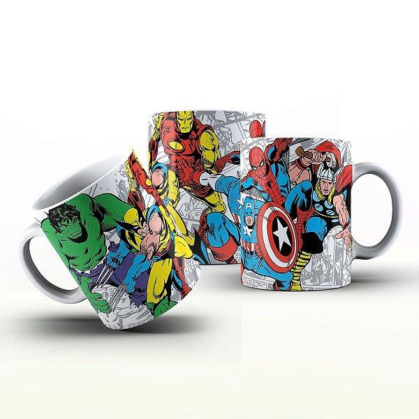 Caneca Personalizada Heróis  - Painel Marvel