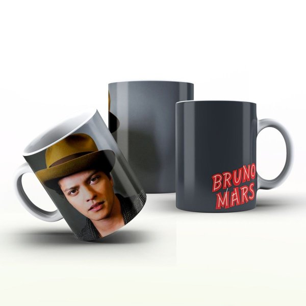Caneca Personalizada Celebridades  - Bruno Mars