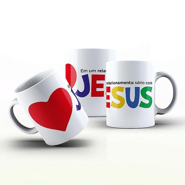 Caneca Personalizada Gospel - Relacionamento sério com Jesus