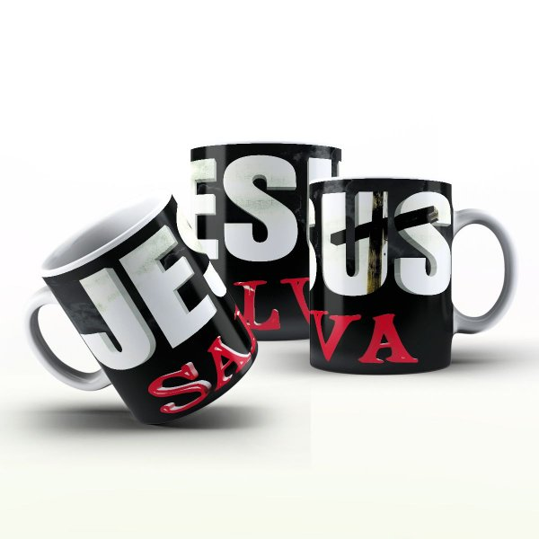 Caneca Personalizada Gospel - Jesus Salva