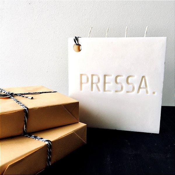 A.PROFUNDA VELA DE QUEIMAR PALAVRA PRESSA