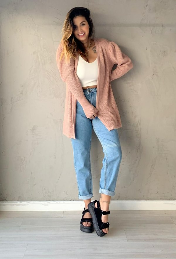 CARDIGAN TRICOT VALLEY ROSE