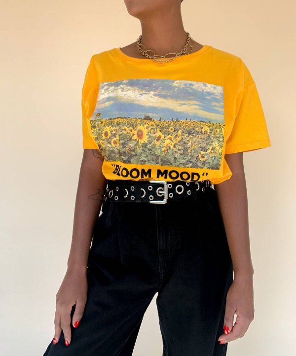 TEE CROPPED BLOOM MOOD