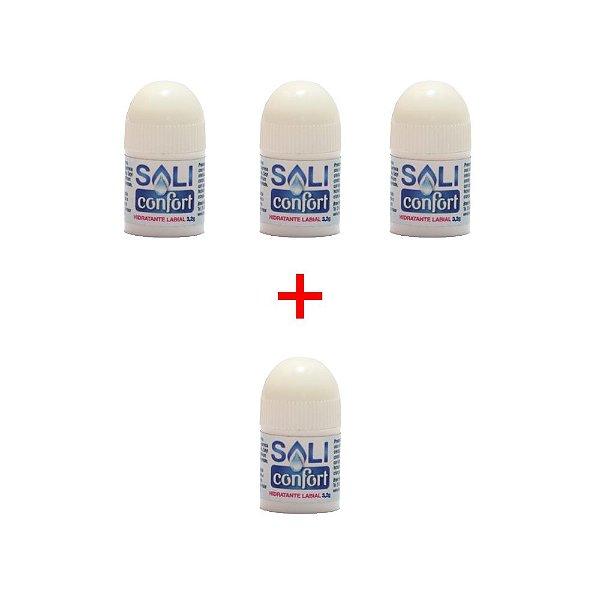 Kit  hidratante labial Saliconfort - compre 3 e leve 4