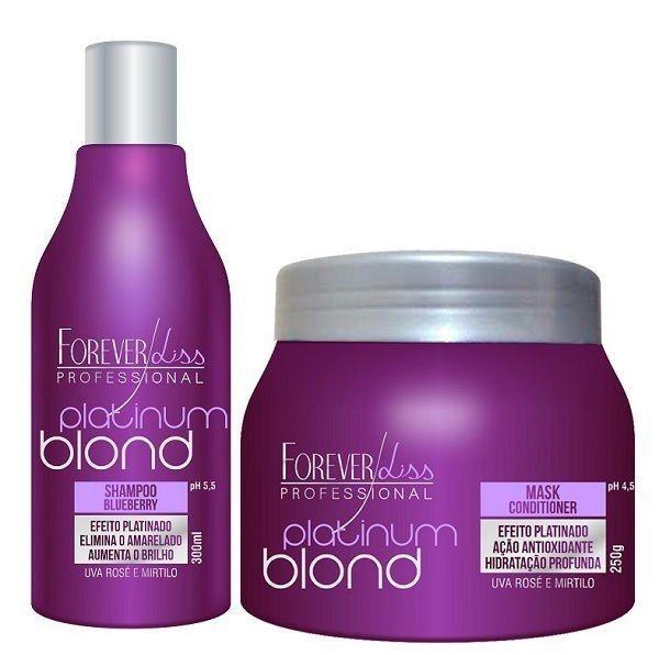 Kit  Platinum Blond Blueberry Desamarelador - Forever Liss