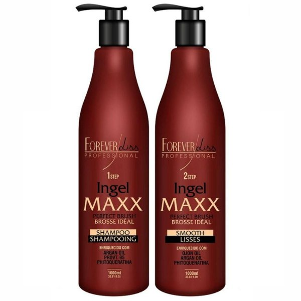Escova Progressiva Ingel Maxx - Kit 2x1000ml - Forever Liss