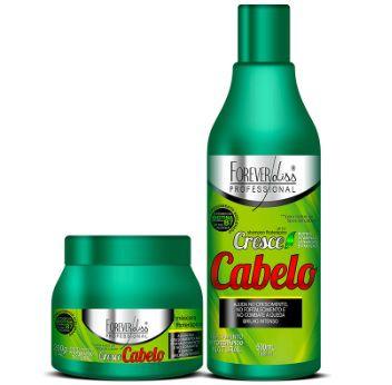 Kit Cresce Cabelo Shampoo 500ml Máscara 250g Crescimento Acelerado - Forever Liss