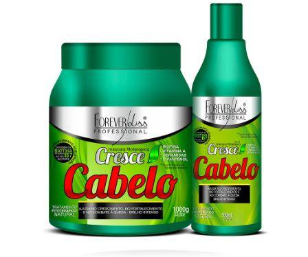 Kit Cresce Cabelo Shampoo 500ml Máscara 1k Crescimento Acelerado - Forever Liss