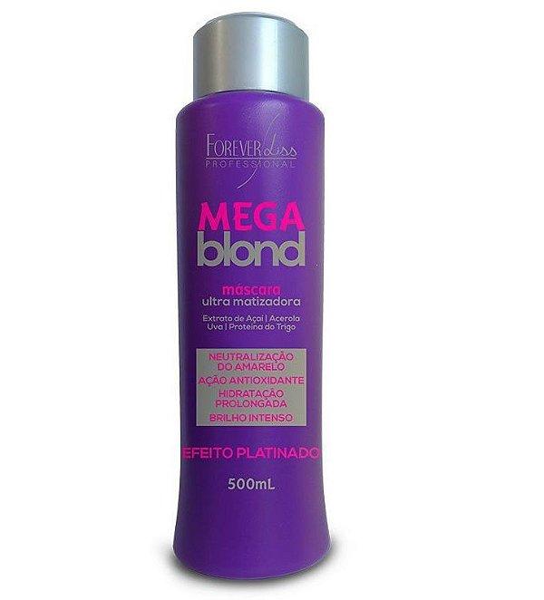 Máscara de Tratamento Mega Blond Ultra Matizadora  500g -  Forever Liss Professional