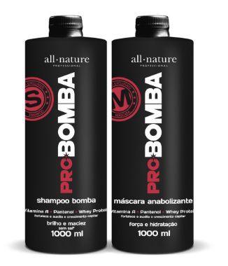 Kit Shampo e Máscara Pro Bomba  - All Nature