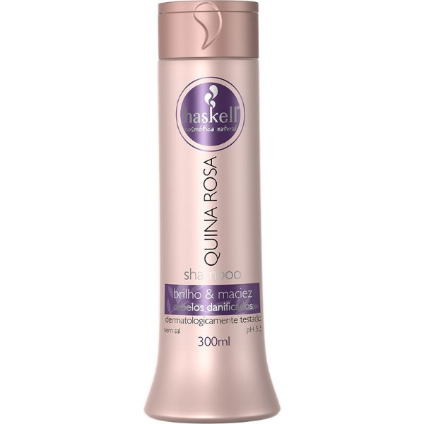 Shampoo Quina Rosa Para Cabelos Danificados 300ml  - Haskell
