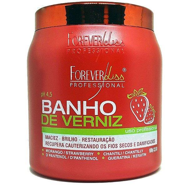 Máscara Banho de Verniz Morango Brilho Extremo 1kg - Forever Liss