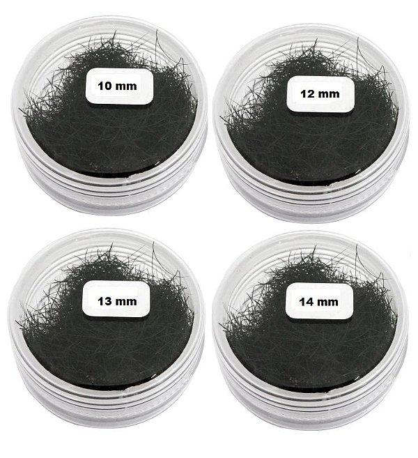 Cílios Para Alongamento Fio a Fio 10mm, 12mm, 13mm e 14mm