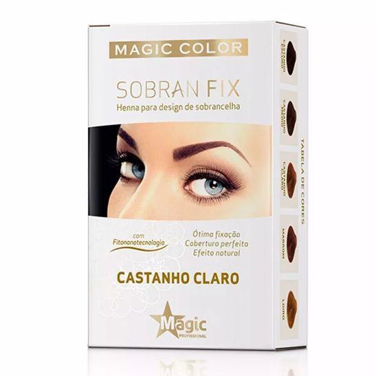 Magic Color Henna Sobrancelha Sobran Fix Castanho Claro