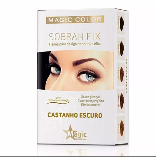 Henna para Design de Sobrancelha Sobran Fix Castanho Escuro - Magic Color