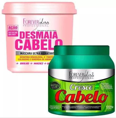 Kit Forever Liss Cresce Cabelo 1000g + Desmaia Cabelo 950g