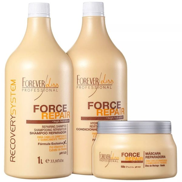 Force Repair Kit Reconstrução 2x1 Litro + 500g Forever Liss