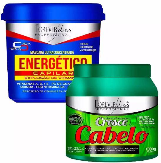 Kit Energético Capilar 950g + Cresce Cabelo 1kg Forever Liss
