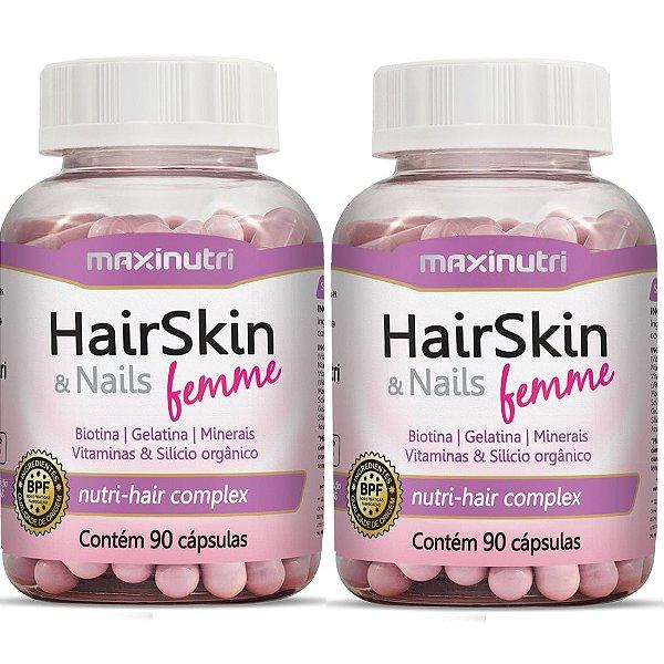HairSkin & Nails Femme 180 Cápsulas Da Beleza - Maxinutri