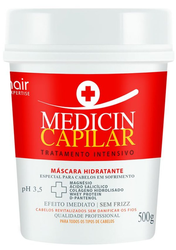 Máscara de Tratamento Intensivo Medicin Capilar 500g - Muriel