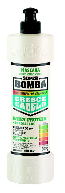 Máscara Super Bomba Cresce Cabelo Normal a Secos 300g - Muriel