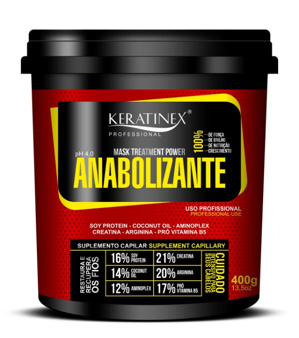 Máscara Anabolizante 400g - Keratinex
