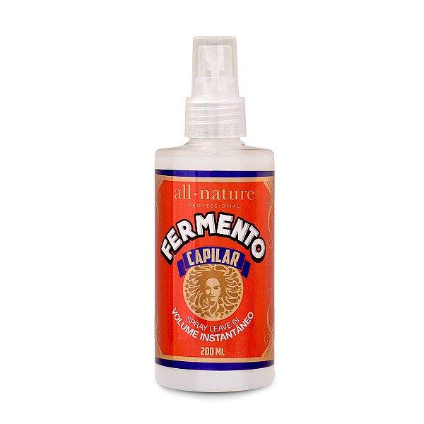 Spray Volume Instantâneo Fermento Capilar - All Nature 200ml