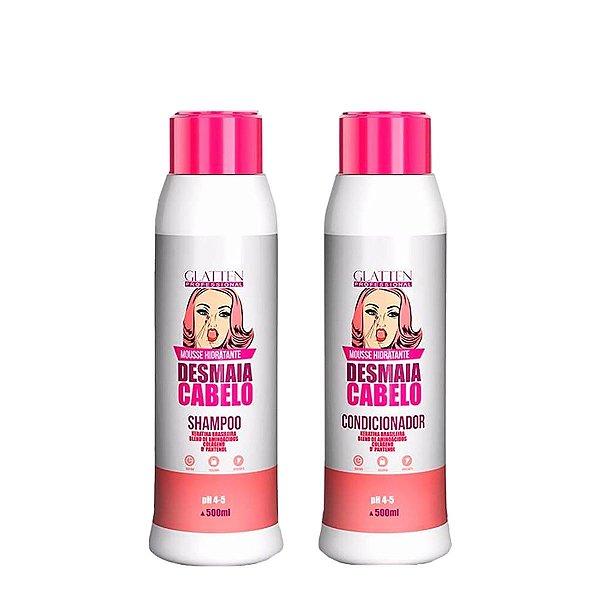 Kit Condicionador e Shampoo Desmaia cabelo 500ml Glatten