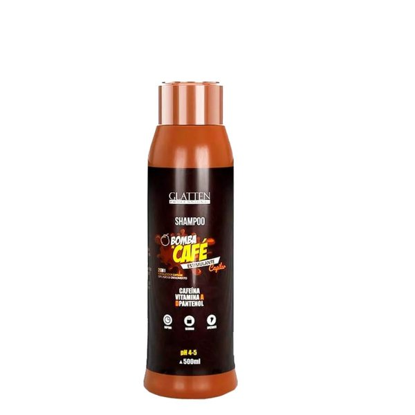 Shampoo Bomba de Café Estimulante 500ml Glatten