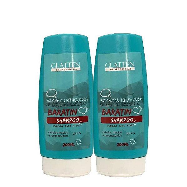Kit Babosa Baratin Shampoo e Condicionador 200ml Glatten