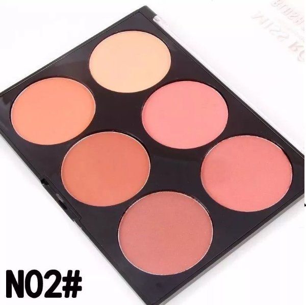 Miss Rose Paleta Blush Glow Kit 6 Cores Modelo N2