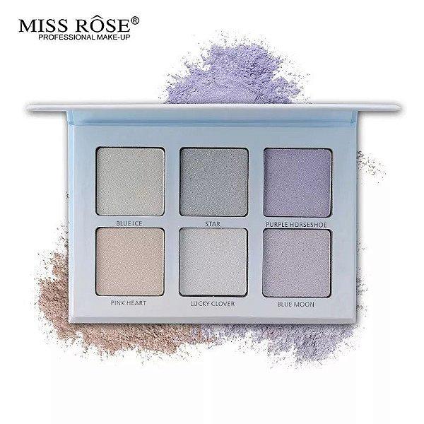 Miss Rose Glow Kit Moon Child Paleta Iluminador 6 Cores