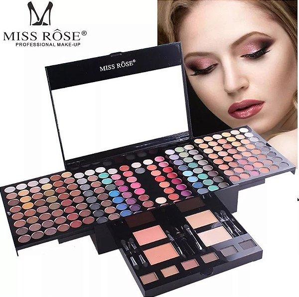 Miss Rose kit de Sombras Sobrancelha e Blush 180 cores