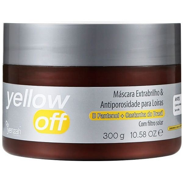 Máscara Extrabrilho e Antiporosidade Yellow Off  300g Yenzah