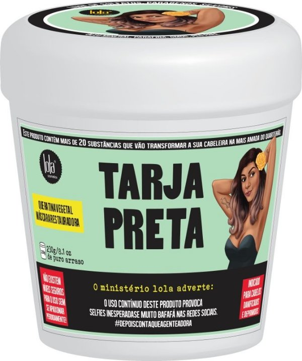 Lola Máscara Restauradora Tarja Preta 230g