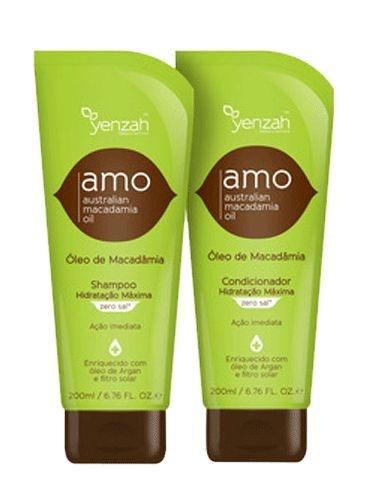Yenzah Shampoo e Condicionador Amo com Óleo de Macadâmia