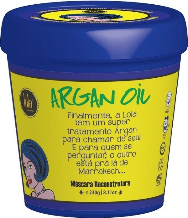 Lola Máscara Reconstrutora Argan Oil/Pracaxi 230g