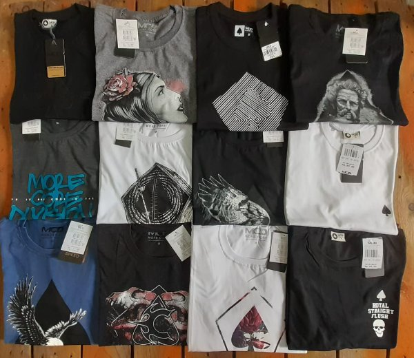 Camisetas MCD Masculinas no Atacado - Lotes de 03 a 50 peças