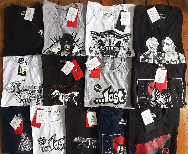 Camisetas Lost Masculinas no Atacado - Lotes de 03 a 50 peças