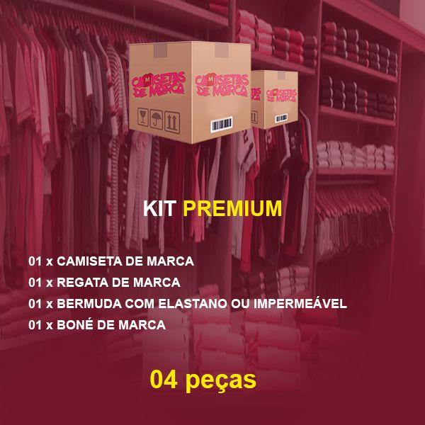 Kit Premium Camiseta + Bermuda + Boné + Regata