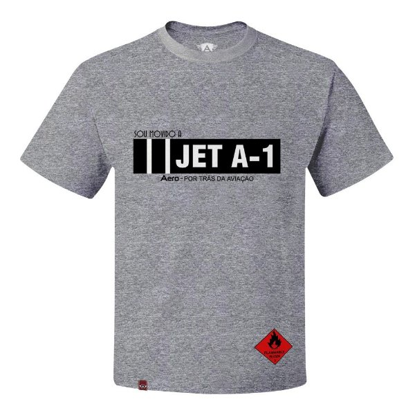 CAMISETA AERO  JET - A1 - CINZA
