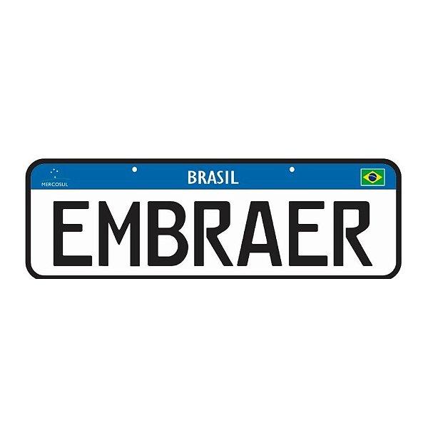 Placa Embraer | Ju Helps