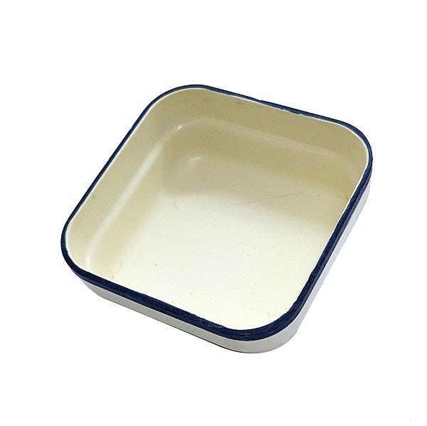 Petisqueira de Plástico Azul e Branca VASP