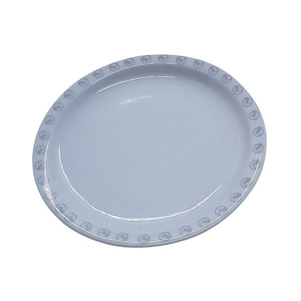Prato de Porcelana Redondo com logo VASP
