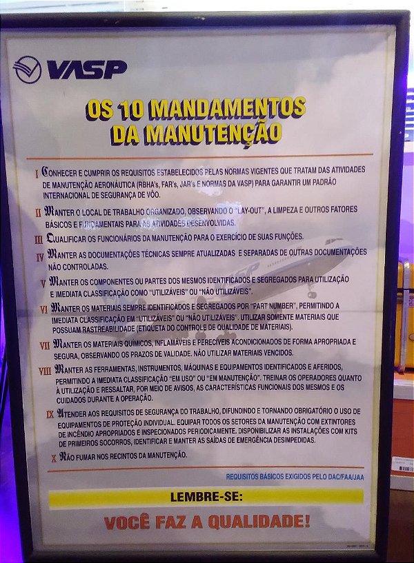 Quadro Os 10 Mandamentos da Manutenção