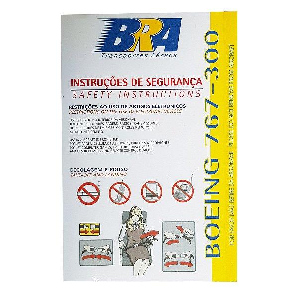 Cartão de Segurança BRA Boeing 767 - 200