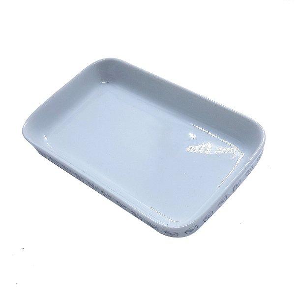 Prato de Porcelana Quadrado VASP com logo na borda