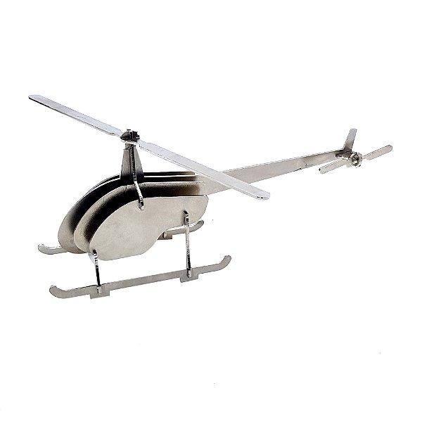 Maquete helicóptero de metal para montar