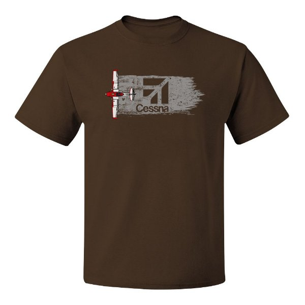 Camiseta Cessna Marrom | Tudo Nivelado