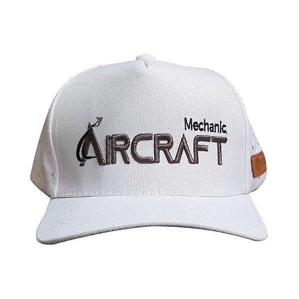 BONÉ MECÂNICO - AIRCRAFT BRANCO